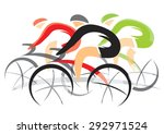 bicycle race. colorful... | Shutterstock .eps vector #292971524