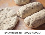 Close Up Of Fresh Bread Dough...