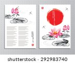 vertical banners with lotus... | Shutterstock .eps vector #292983740