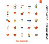 simple flat icons collection... | Shutterstock .eps vector #292983854