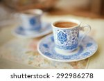 a cup of turkish coffee on the... | Shutterstock . vector #292986278