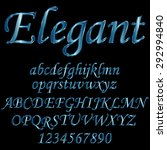 decorative font   metallic blue | Shutterstock .eps vector #292994840