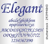 decorative font   metallic... | Shutterstock .eps vector #292994843