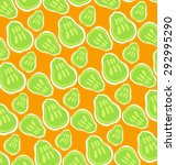 pattern of green pears on... | Shutterstock .eps vector #292995290