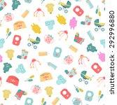 baby goods. pattern of baby... | Shutterstock .eps vector #292996880