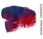 vector acrylic red blue ink...   Shutterstock .eps vector #293005673