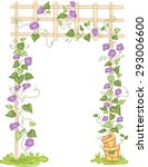 illustration of a garden with... | Shutterstock .eps vector #293006600