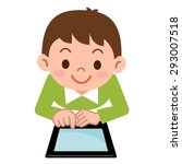children playing in the tablet... | Shutterstock .eps vector #293007518