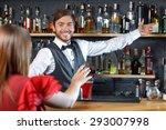 portrait of a handsome... | Shutterstock . vector #293007998