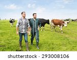 View Of A Farmer And Veterinar...
