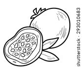 coloring book  fruits and...   Shutterstock .eps vector #293010683