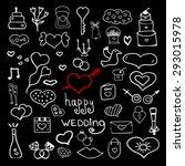 wedding set doodle cute | Shutterstock .eps vector #293015978