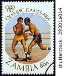 zambia   circa 1984  a stamp... | Shutterstock . vector #293016014