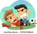 two little boys fighting over... | Shutterstock .eps vector #293018864
