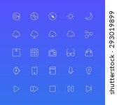 outline icons set  vector eps 10