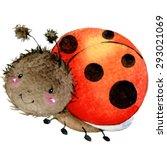Cartoon Insect Ladybug...