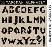 tan gram alphabet vector   black | Shutterstock .eps vector #293037680