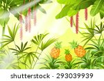 game landscape with tropical...
