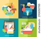 cleaning design concept with... | Shutterstock .eps vector #293050700