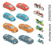flat 3d isometric high quality...   Shutterstock .eps vector #293050703