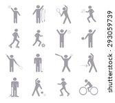 sport icons set illustration | Shutterstock .eps vector #293059739