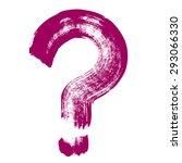 question mark hand brush... | Shutterstock .eps vector #293066330