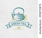 tea logo template and design... | Shutterstock .eps vector #293072873