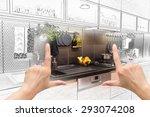 female hands framing custom... | Shutterstock . vector #293074208