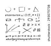 arrows vector. hand drawn.  ... | Shutterstock .eps vector #293075738