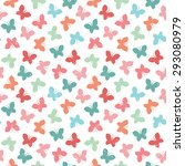 seamless vector background with ... | Shutterstock .eps vector #293080979