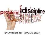discipline concept word cloud... | Shutterstock . vector #293081534
