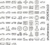 black transport icon set | Shutterstock .eps vector #293092610