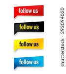 follow us web button collection ... | Shutterstock .eps vector #293094020