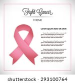 fight cancer ribbon | Shutterstock .eps vector #293100764