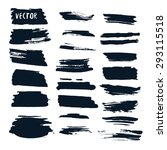 grunge vector set with ink... | Shutterstock .eps vector #293115518