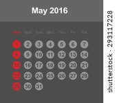 template of calendar for may... | Shutterstock .eps vector #293117228