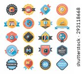 travel badge banner design flat ... | Shutterstock . vector #293118668