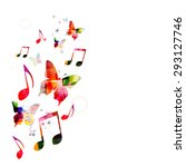 colorful music background with... | Shutterstock .eps vector #293127746