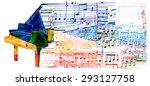 Colorful Piano Design. Music...