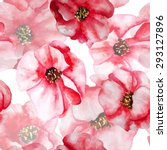 watercolor poppies set for... | Shutterstock .eps vector #293127896