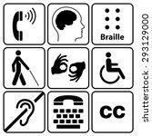 Black Disability Symbols And...