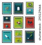 kitchenware poster flat banner... | Shutterstock . vector #293129666