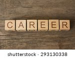 Word Career On A Wooden Cubes