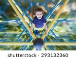 sweet boy on the playground ... | Shutterstock . vector #293132360