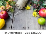 still life of flowers and fruit ... | Shutterstock . vector #293136200