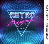 80s retro sci fi background   Shutterstock .eps vector #293141549