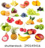 collage of different fruits and ... | Shutterstock . vector #293145416