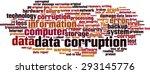 data corruption word cloud... | Shutterstock .eps vector #293145776