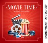 realistic cinema movie poster... | Shutterstock .eps vector #293153909