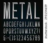 metal effect beveled narrow... | Shutterstock .eps vector #293154659